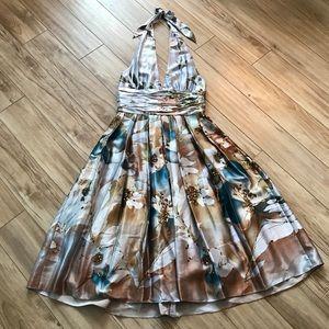 Adrianna Papell Occasions Silk Halter Dress